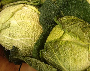 Market cabbages