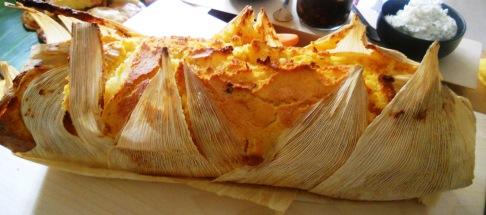corn husk bread